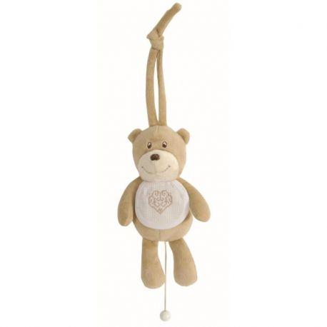 """Peluche orsetto """"teddydou"""" con bavaglino ricamabile"""