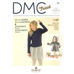 DMC Tricot - Gold yarn collection handknitting 01