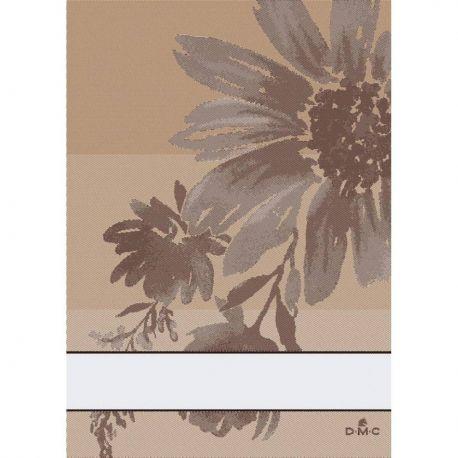 Asciugapiatti con banda Aida per punto croce Flowers by DMC