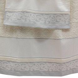 Coppia asciugamano e ospite Luigi in misto lino di F.lli Graziano