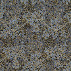 Tessuto americano Morris Holiday Metallic foliage blue