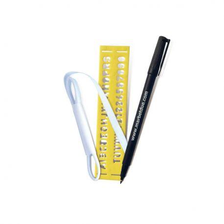 Set marca biancheria termoadesivo con pennarello