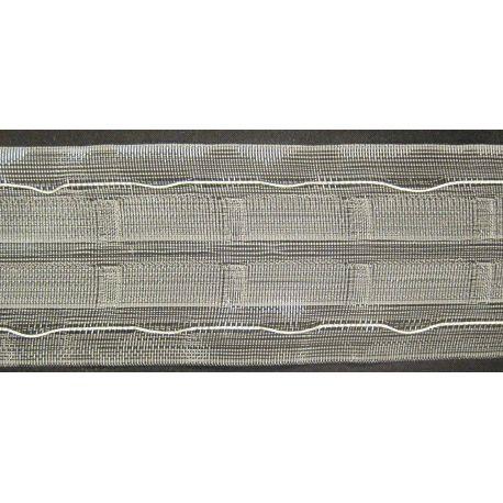 Fettuccia arricciatende 65 mm trasparente