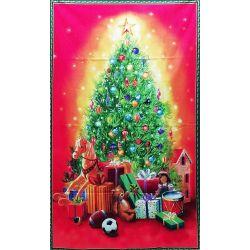 Tessuto Americano Albero di Natale stampato Pannello