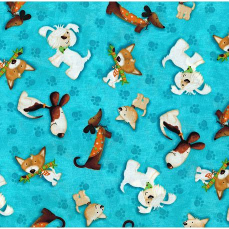 Tessuto Americano Puppy Love