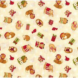 Tessuto Americano Santa and Friends by Debbie Mumm All Over Piccolo