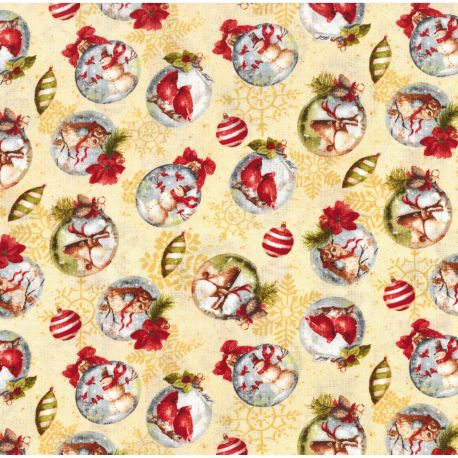 Tessuto Americano Woodland Holiday by Lisa Audit All Over Medio