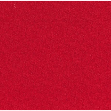 Tessuto Americano Cinnaberry by 3 Sisters Floreale Piccolo Rosso su Rosso