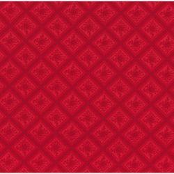 Tessuto Americano Cinnaberry by 3 Sisters Rombi Floreali Rosso su Rosso