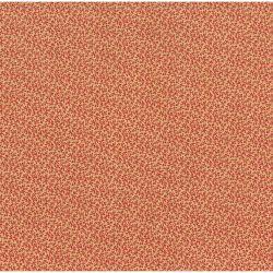 Tessuto Americano Cinnaberry by 3 Sisters Foglioline Rosso su Ecru