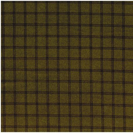 Tessuto Americano Woolies Flannel Quadretti Verde