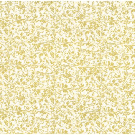 Tessuto Americano Noel Gold Swirls