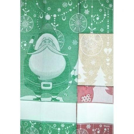 Asciugapiatti Babbo Natale DMC
