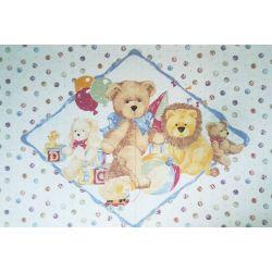 Tessuto Americano Teddy and Friends Pannello