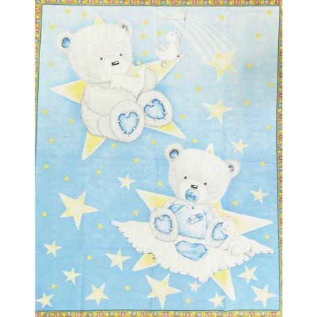 Tessuto Americano Baby Bear Hugs Pannello