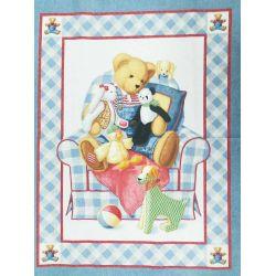 Tessuto Americano Chair Bear Quilt Pannello