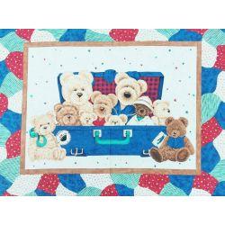 Tessuto Americano Everyday Bears Pannello