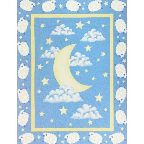 Tessuto Americano My Blue Heaven Pannello