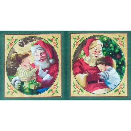Tessuto Americano Christmas Cuscino Pannello