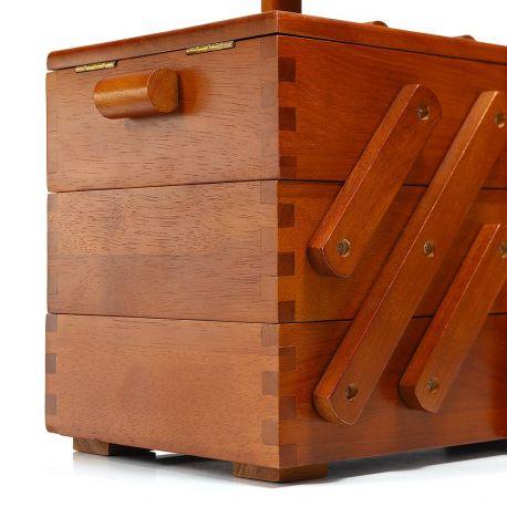Scatola da cucito in legno