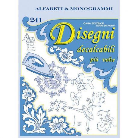 Disegni decalcabili 241 - alfabeti & monogrammi