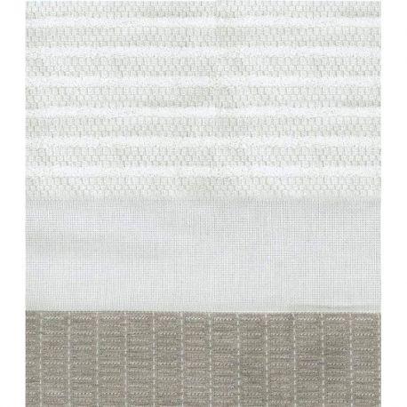 Coppia asciugamani cotone e lino - righe