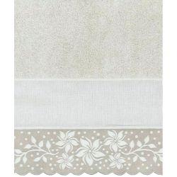 Coppia asciugamani cotone e lino - fiori