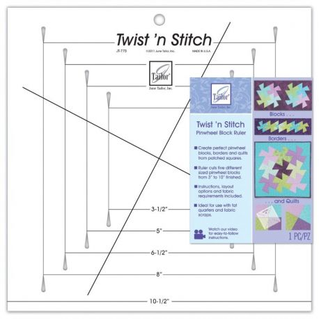 Twist 'n' Stitch - righello blocco girandola