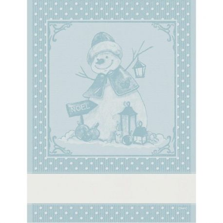 Asciugapiatti ricamabile Pupazzo di Neve