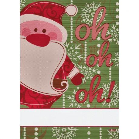 Asciugapiatti ricamabile Babbo Natale
