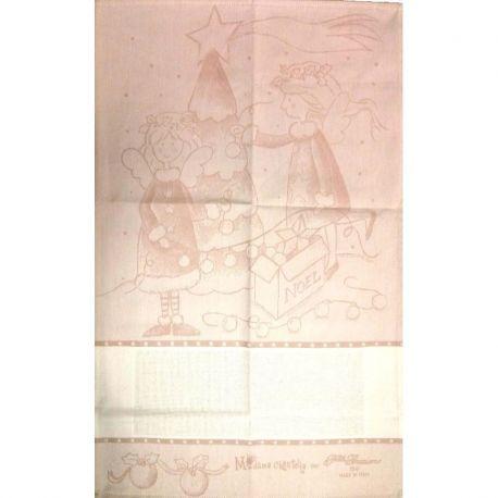 """Asciugapiatti collezione Natale """"Madame Chantilly for F.lli Graziano"""""""